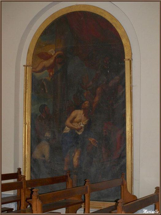 Tableau dans l'église Saint Laurent, village d'Aas, Vallée d'Ossau (64)