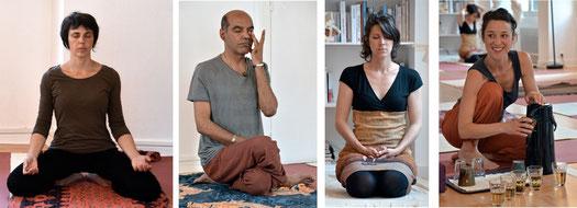 Expérience de méditation et de concentration puis partage de la tisane.
