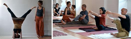 l'expérience de l'enseignant.e permet au pratiquant de Hatha Yoga de dépasser ses limites en se respectant. Il évolue sous le regard bienveillant de l'enseignant.
