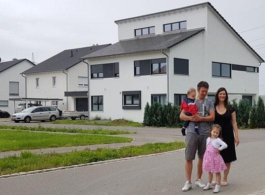 Bauherren aus Erbach bei Ulm mit 2 wunderschönen Solarterrassen