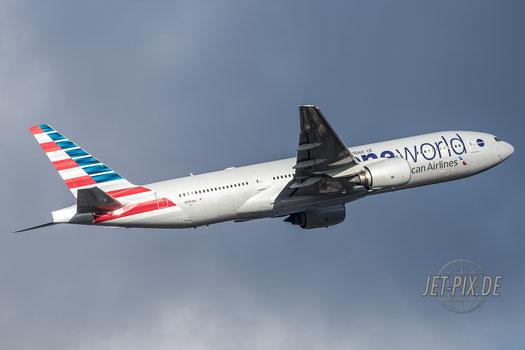 N791AN AmericanAirlines Boeing 777 Oneworld EDDF Frankfurt im Outbound