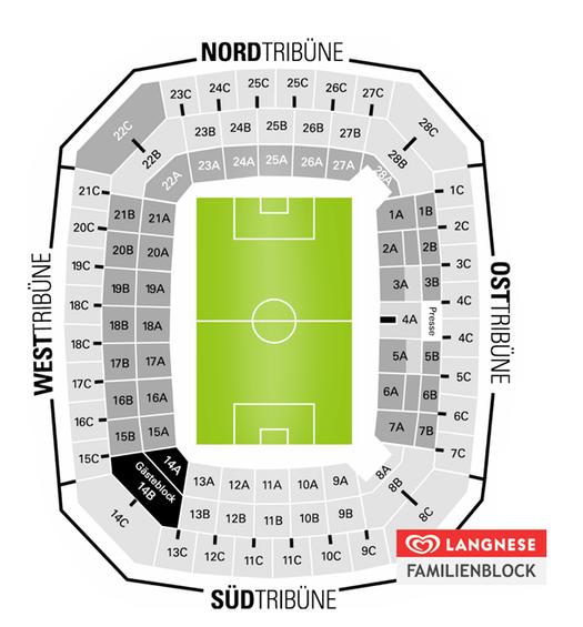 Stadionaufteilung Mercedes Benz Arena