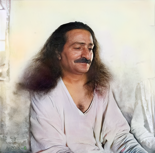 7A. May 15, 1936 - Meher Baba at Meherabad, India  - Original full size image