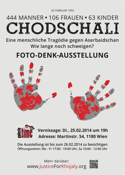 Galerie Time Kulturkreis Wien Aserbaidschan Chodschali Genozide Massaker Völkermord Foto-Denk-Ausstellung Günther W. Wachtl  Berg-Karabach Chingiz Mustafayev