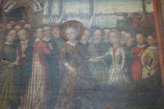 Dipinto della leggenda St. Ursula