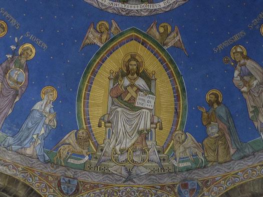 Roldu oostelijke concha - Evangelist Johannes en de schotel met het Lam Gods.