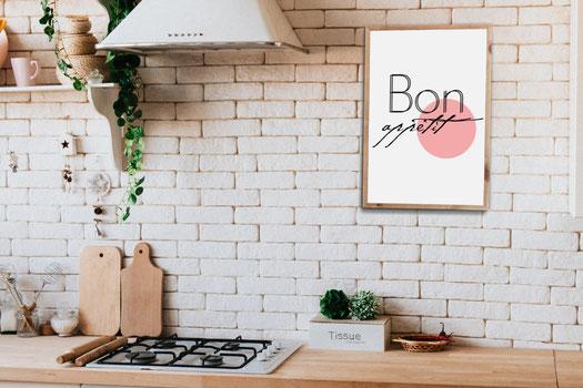 4one pictures - poster - set - küche - typographie - bild mit spruch - kitchen - essen - trinken - kaffee - cafe - food - skandi
