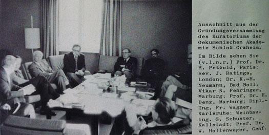 Gründungsversammlung Oekumenische Akademie