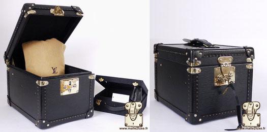Boîte à flacons Louis Vuitton vanity Epi black 2010