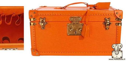 Boîte à bouteille et glace vanity Louis Vuitton épi orange