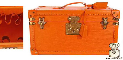 Louis Vuitton orange epi bottle and ice cream box