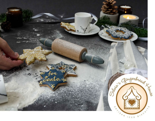 Handdecorated Gingerbread Cookies By Silvia's Gingerbread House, featured in the PASiNGA curated Christmas artisan gift guide