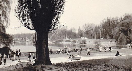 Sonntags am Aasee 1950er Jahre