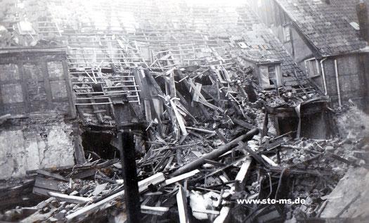 Nach Bombenangriff 1943 - Aegidiistraße