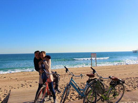 playa, beach, badalona, ocean, see, barcelona