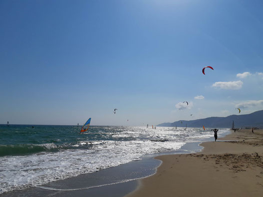 playa, beach, castelldefells, ocean, see, barcelona
