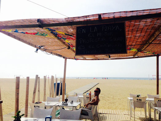 playa, beach, beach bar, ocean, see, barcelona, mataro