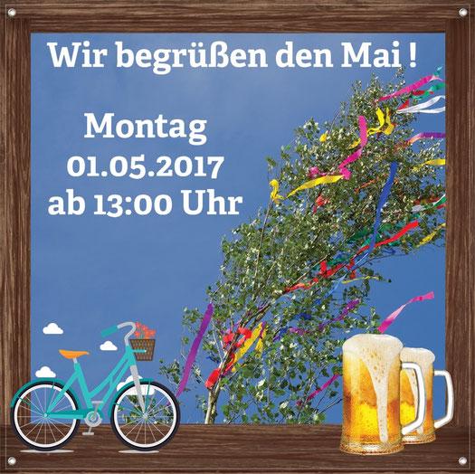 Veranstaltung zum 1. Mai 2017 Sonntag mit Hüpfburg für Kinder