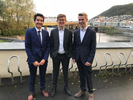 Stephan, Johannes und Hannes sind die neuen Praktikanten in Bergen