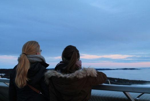 Blick in die Ferne: Maria Korten und Lioba Dietz in Oslo