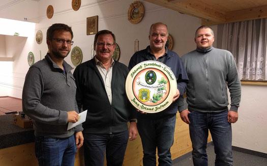 v.l. Philipp Wöhrl, Josef Haller, Herbert Freiberger, Rudi Trost