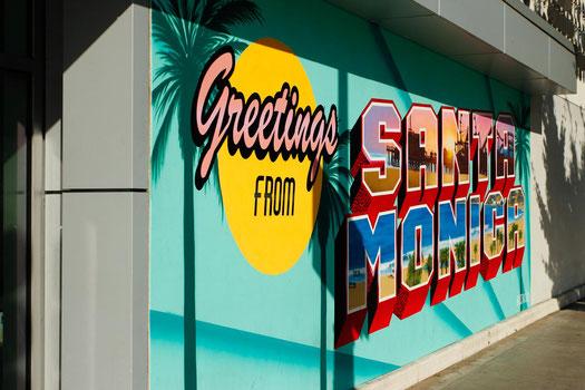 Santa Monica Street Art, Los Angeles, beach