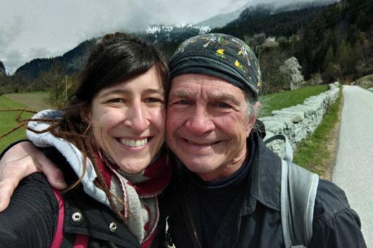 Binational couple, age gap couple, Viamala Gorge, Switzerland