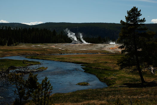 River Yellowstone, Upper Geyser Basin, nature USA