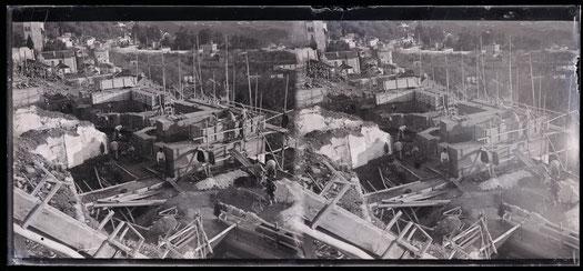 Construcción del Carmen Rodríguez-Acosta. Granada. 1916. Archivo de la Fundación Rodríguez-Acosta