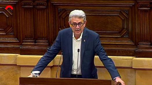 El diputat socialista al Parlament de Catalunya, Rafel Bruguera, realitzant la seva ponència. Parlament de Catalunya/PSC