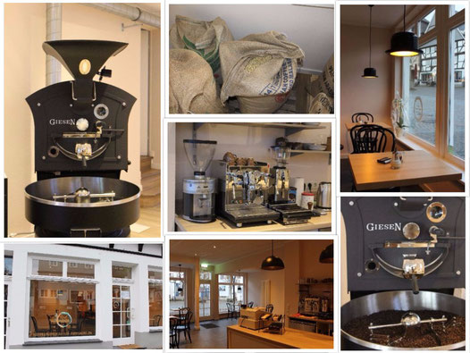 Die Kaffeemanufaktur am Alten Markt, Röster, Kaffeesäcke Einrichtung