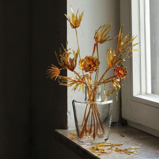 Flower Still Life - sepia mood . Masami Hirohata