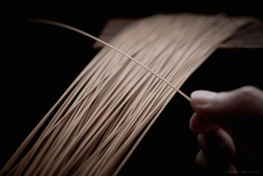 ここから竹ひごを薄く仕上げます|Fujibilm X-Pro2