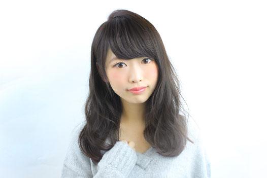美容室 京都 ミディアム セミロング ゆるふわ 外国人風 アッシュ ダークカラー