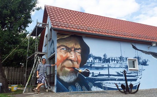 Graffiti Ostsee Fischer