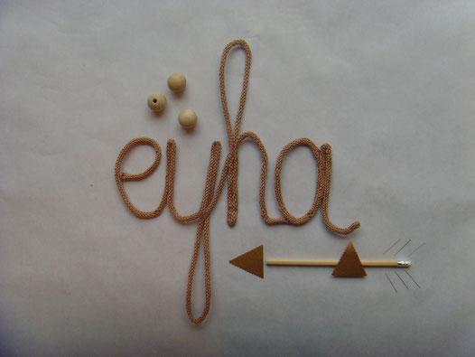 écriture laine coton tricotin eyha
