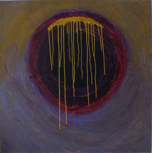 Nr. 2013-HO-006: 100 x 100 cm, Acryl, Tinte auf Leinwand