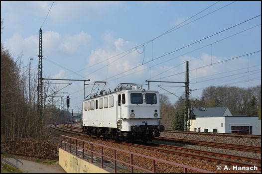 In Niederwiesa konnte die Lok beim Kopfmachen erneut fotografiert werden
