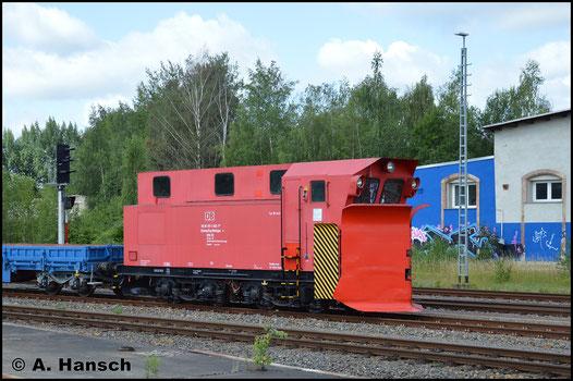 Am 3. Juli 2017 wird der Wolkensteiner Schneepflug SPM 312 (80 80 970 5002-1) von Wolkenstein nach Chemnitz-Süd überführt. Als Dgs 91008 wurde die Fuhre von 202 565-8 (PRESS 1112 565-7) gezogen. Weiter ging es von hier nach Schwarzenberg zur Revision