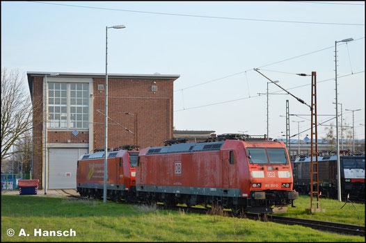 185 150-0 steht am 30. März 2019 im Werk Dessau