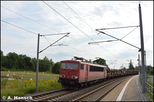 Am 17. August 2017 begegnet mir 155 236-3 mit GA 44387 nach Nymburg am Hp Chemnitz-Hilbersdorf