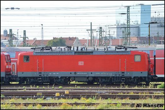 114 032-6 steht am 27. August 2016 in Leipzig Hbf. abgestellt