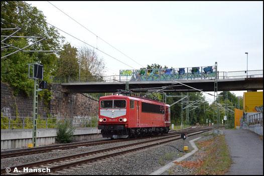 Auch nach dem Ende der BR 155 bei der DB geht die Geschichte von 155 219-9 weiter. Maik Ampft Eisenbahndienstleistungen nahmen sich der Maschine an