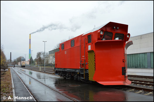 5020-3 steht am 2. Dezember 2018 in Chemnitz am Bahnkraftwerk