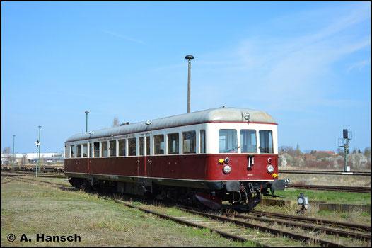 Mit 301 035-1 besitzt die CLR einen betriebsfähigen VT 50. Am 30. März 2019 ist dieser Im Bw Staßfurt zu Gast