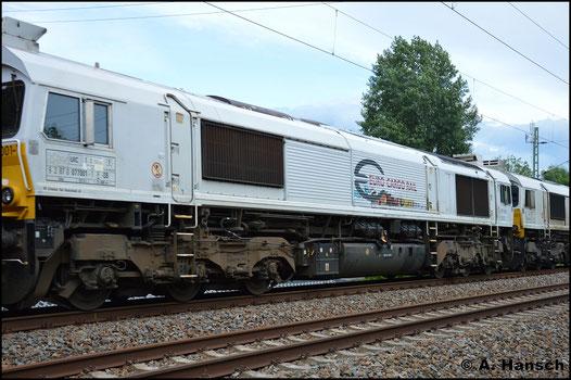 Am 15. Juni 2016 konnte ich 077 001-1 in einem Lokzug am ehem. Abzw. Furth in Chemnitz fotografieren