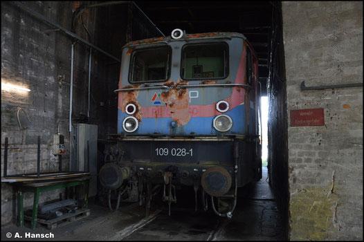 Ex EGP 109 028-1 befindet sich am 31. Juli 2021 in der Obhut des TEV Weimar im dortigen Bw