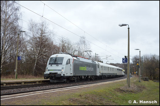 Am 15. März 2019 ist die Lok für RailAdventure im Einsatz. Mit einer Triebwagentestfahrt rollt sie durch den Hp Kleinschirma