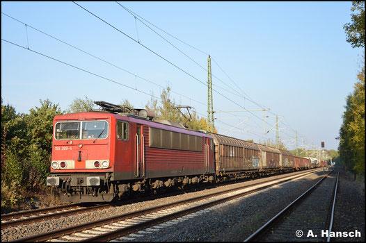 Am 10. Oktober 2018 ist die Lok im Bestand von Railpool aufgenommen und entsprechend nicht mehr mit DB-Logo versehen. In Chemnitz-Hilbersdorf konnte ich sie mit dem EZ 50807 dokumentieren