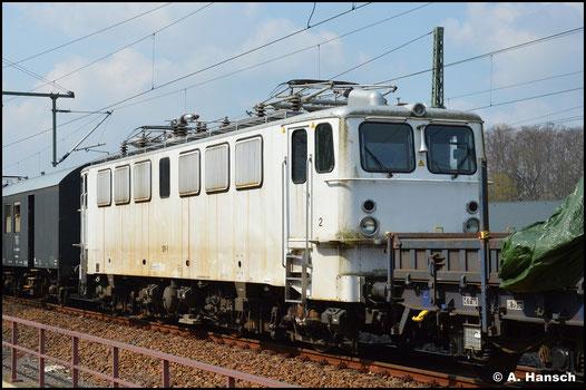In Niederwiesa entstand ein zweites Bild der Lok. Sie wurde von hier aus ins SEM geschleppt